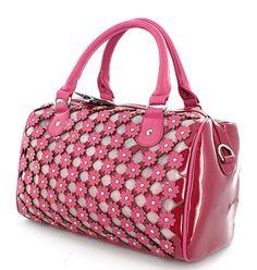 Pink Flower Weve Nicole Lee Handbag Purse