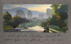 Nathan Fowkes, Land Sketch: I used to live in North Glendale Ca. Here a...