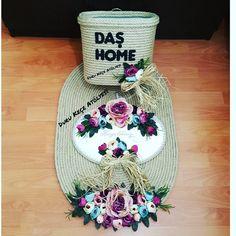 """54 Beğenme, 4 Yorum - Instagram'da keçe tasarım & kapı süsü  (@duru_kece_atolyesi): """"Çiğdem hanımın Annesine anneler günü hediyesi  Halat paspas takımı hazır Güzel günlerde kullanın…"""""""