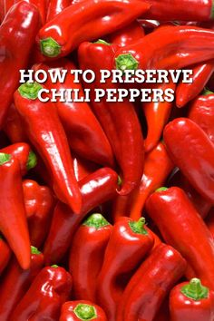 Preserving Chili Peppers - Chili Pepper Madness Red Jalapeno, Stuffed Jalapeno Peppers, What Is Red, Red Chili Peppers, Canning Recipes, Preserves, Madness, Harvest, Gardening