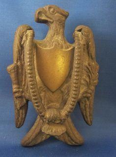 Vintage Brass Flying Eagle Door Knocker   Interesting Antiques   Pinterest
