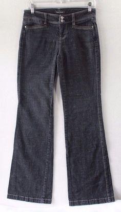 White House Black Market Black Blanc Trouser Leg Jeans - Size 0R Inseam 32 #WhiteHouseBlackMarket #TrouserLeg