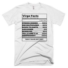 "NEW! ""Virgo Facts Unisex Tee"""