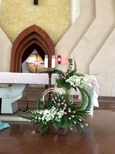 Funeral Floral Arrangements, Contemporary Flower Arrangements, Church Flower Arrangements, Beautiful Flower Arrangements, Beautiful F… Altar Flowers, Home Flowers, Church Flowers, Wedding Flowers, Church Altar Decorations, Flower Decorations, Wedding Decorations, Christmas Decorations, Contemporary Flower Arrangements