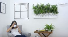 Go green with Plug & Plant - 36 plant species for wall greening in the home and office textiles . Go Green, Vertical Garden Wall, Vertical Gardens, Plant Species, Home Textile, Decoration, Simple, Plants, Country Houses