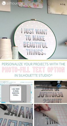 How to use the photo-fill text option in Silhouette Studio®