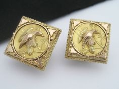 Rare Antique Victorian Art Nouveau era 14K Gold Cufflink Buttons Bird Aesthetic | Jewelry & Watches, Men's Jewelry, Cufflinks | eBay!