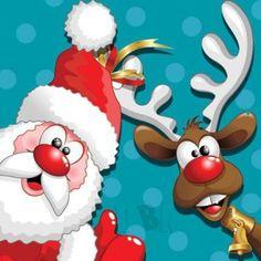 'Funny Christmas Reindeer Cartoon' Floor Pillow by BluedarkArt Christmas Greeting Cards Images, Christmas Svg, Christmas Printables, Christmas Pictures, Christmas Humor, Christmas Projects, Christmas Decorations, Christmas Greetings, Christmas Ornaments