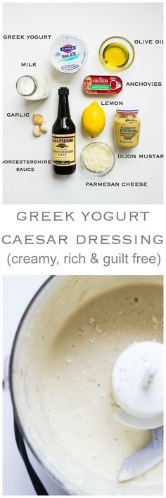 Greek Yogurt Caesar Dressing - lightened up caesar dressing made with healthy greek yogurt and very little oil | littlebroken.com @littlebroken