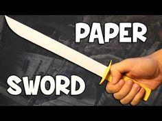 How To Make A Cardboard Sword - YouTube