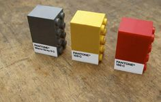 #pantone + legos.  I love when good things come together.