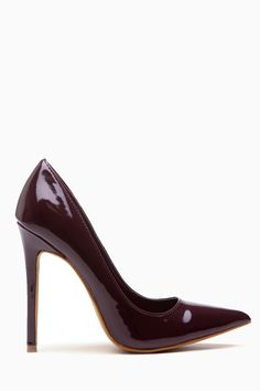 0c978626b Chocolate Faux Patent Leather Pointy Toe Classic Pumps @ Cicihot Heel Shoes…  High Heel Pumps