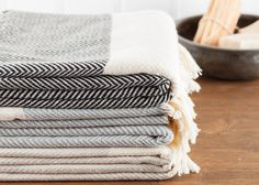 Herringbone Towel Bath Towel Beach Towel Turkish by LongestThread