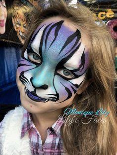 Face paint blue purple tiger