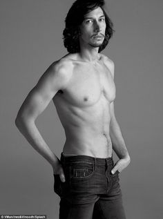 Fears: Adam Driver claimed he is 'petrified of the Internet' as he stripped down shirtless...