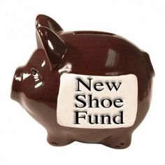 StoneWitWords Piggy Bank ´Shoe Fund´ Saving money is fun and easy with your own personal ceramic piggy bank named ´New Shoe Fund´. It comes gift boxed so makes a great present.