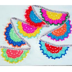 Crochet bunting gehaakte slinger