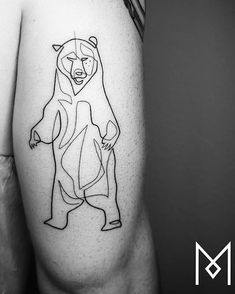Mo Ganji Bear tattoo