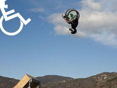 Aaron 'Wheels' Fotheringham, amazing, Wheelchair MX athlete who was born with Spina Bifida.
