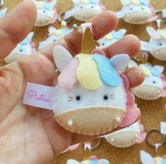Sewing Crafts Animals Felt Ornaments 25 Ideas For 2019 Unicorn Ornaments, Felt Christmas Ornaments, Christmas Crafts, Felt Crafts, Diy And Crafts, Crafts For Kids, Fabric Crafts, Unicorn Birthday Parties, Unicorn Party