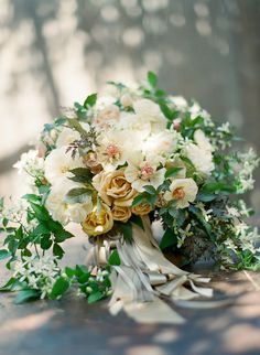 Max Gill Design- bridal bouquet with ivory and copper flowers