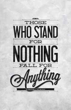 Stand For Something | Typography Poster by Jerónimo Herrera, via Behance