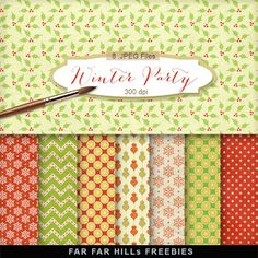 New Freebies Kit - Winter Party:Far Far Hill - Free database of digital illustrations and papers