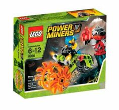 LEGO Power Miners Stone Chopper (8956) by LEGO. $24.50. Features saw bike with fierce spinning saw blade wheels. Includes miner and rock monster. Rock Monster head opens. Contains 31 pieces. Combine with #8957 Mine Mech to build the Cave Cutter. From the Manufacturer                When the Power Miners are in a jam, they send out the Stone Chopper. This tough excavation cycle packs some serious speed and mining power, thanks to its twin rock-cutting saws that automaticall...