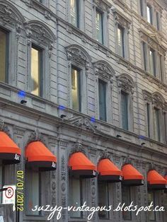 Montreal Architecture - Awesome Orange awnings!