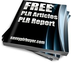 Free PLR articles, tweets and worksheets, along with a report that helps you use your PLR.
