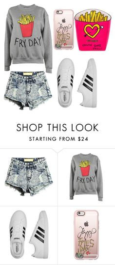 """I'm Really Active... When I'm Eating"" by magriatrix ❤ liked on Polyvore featuring Adolescent Clothing, adidas, Casetify and Betsey Johnson"