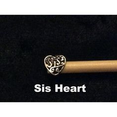 Sis Sister Heart Beaded Bamboo Knitting Needles or Crochet Hooks from Funky Needles. From £2.49 in loads of sizes