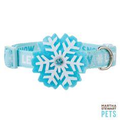"Martha Stewart® ""Let It Snow"" Holiday Snowflake Adjustable Dog Collar | Collars | PetSmart"