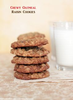 The Ultimate Chewy Oatmeal Raisin Cookies