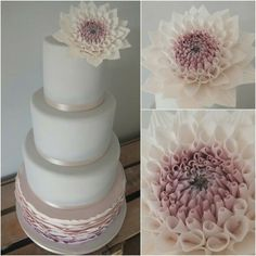 Simple purple wedding cake
