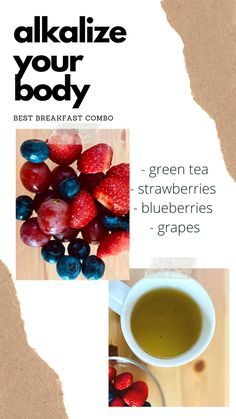 Alkalize Your Body, My Recipes, Cooking Recipes, Strawberry Blueberry, Alkaline Foods, Best Breakfast, Plant Based, Good Things, Eat