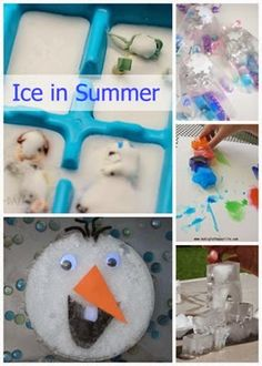 Summer Icy Play Ideas from Planet Smarty Pants #scienceplay #stem