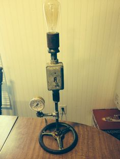 Steampunk lamp I made.