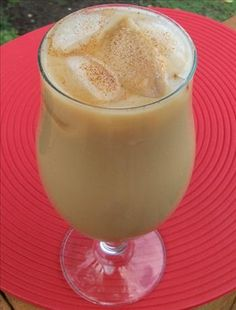Iced Coffee (Dunkin Donuts style).  I would use agave as opposed to sugar, and a splash of vanilla or hazelnut creamer.  Yum!