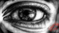 eye digital drawing libertad tattoo en piercing lounge