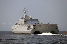 USS Independence (LCS 2).LCS-2 Independence Class offers futuristic but practical high-speed trimaran,based on Austal designs & experience with vessels like US Marines' Westpac Express high-speed transport,& Army & Navy's TSV/HSV ships.Especially large flight deck (7,300square feet) & internal mission volume (15,200square feet mission bay) for size,with 3,500 square foot helicopter hangar.Hull is aluminum,but trimaran design offers additional stability,& may help ship survive side hits.