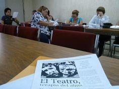 Reunión de capacitación con docentes de Artes-Teatro de secundaria convocados por el Departamento Técnico e impartido por asesores técnicos pedagógicos.