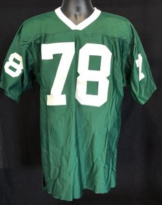 size 40 2bf30 2ac0f Vintage 1970s General Jersey Shirt L Green Football Deadstock NWT  78 100%  Nylon by. Etsy