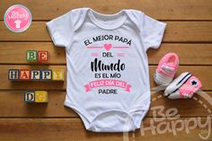 Be happy: Mamelucos personalizados Cute Pregnancy Announcement, Birthday Surprise Boyfriend, Mommy Quotes, Funny Baby Clothes, Body Hacks, Kids And Parenting, Cute Babies, Baby Gifts, Dads