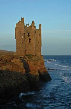 Keiss Castle, Caithness, Scotland ~ Built in the 16th century and occupied throughout its history by the Clan Sinclair.