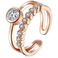 Caramia - CZ Diamond Rose Gold / Silver Toe Ring