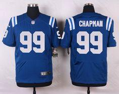 Men's NFL Indianapolis Colts #99 Josh Chapman Royal Blue Elite Jersey
