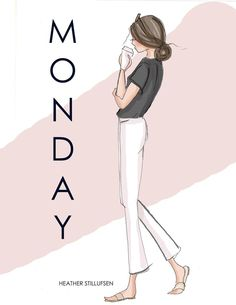 Monday let the week begin Claudia Rodriguez, Hello Weekend, Hello Sunday, Ecole Art, Days Of Our Lives, Happy Summer, Fashion Sketches, Cute Drawings, Girl Power