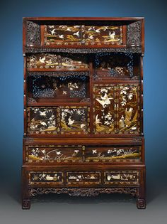 This impeccable Japanese cabinet is a stunning example of Meiji-period furniture ~ M.S. Rau Antiques