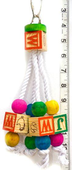 ABC Clacker  100% Cotton Rope  Parrot Toys & Bird Toy Parts